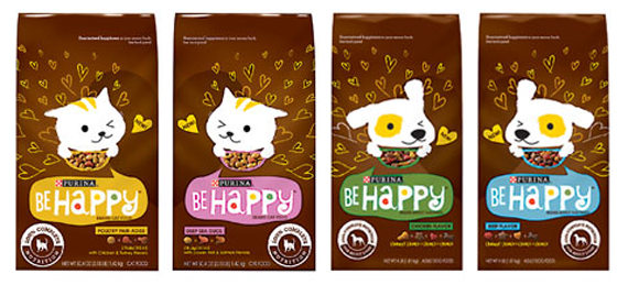 Be happy pet food by Purina