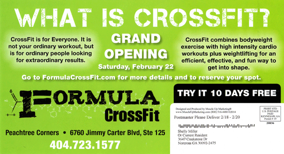 Atlanta Marketing Example - crossfit postcard