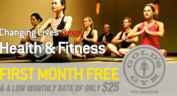Atlanta Marketing Firm Example - Gold's Gym postcard