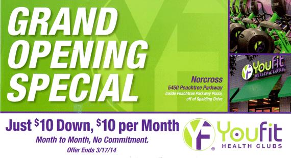 Atlanta Marketing Firm Example - youfit postcard