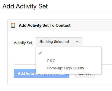 Add an activity set for contact