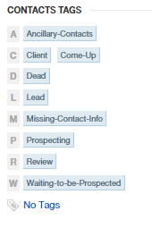 Insightly CRM Contact Tags