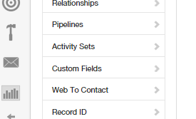 Insightly CRM Activity Sets Screen