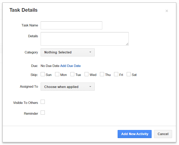 Insightly CRM Task Details