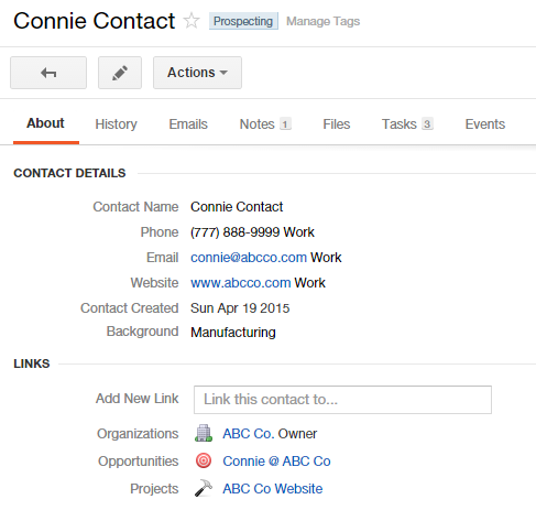 Manage Tag Contact for Prospecting