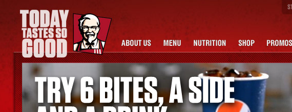 "KFC logo and tagline ""Today Tastes So Good"""