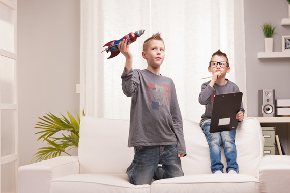 Kids and a rocket ship - the future of marketing